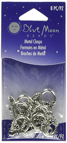 Blue Moon Plated Metal Toggle Clasps, Leaf Silver, -