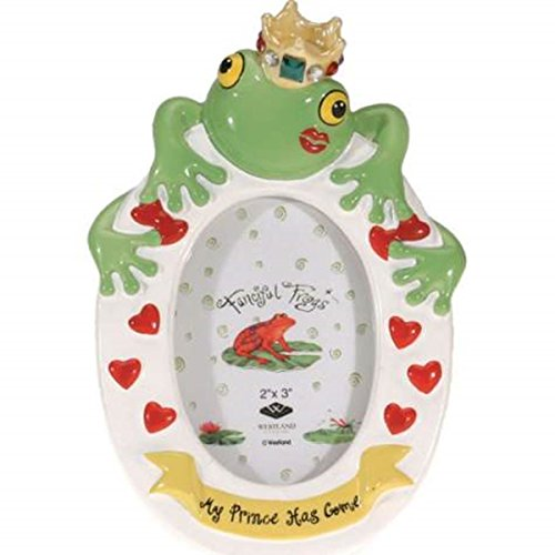 Frog Photo Frame (WL SS-WL-11947 My Frog Prince Has Come Kissing Frog Picture Frame, 2