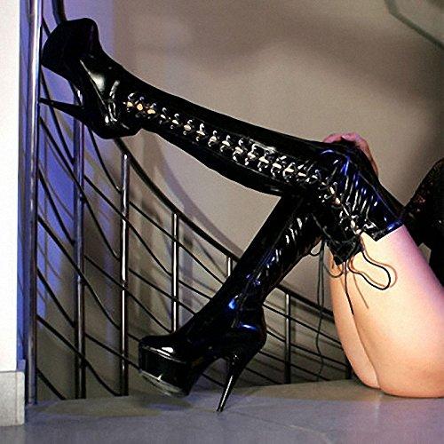 Gemessen in den knie - spitzen fashion show show show kunden 15 cm high heels 83d89e