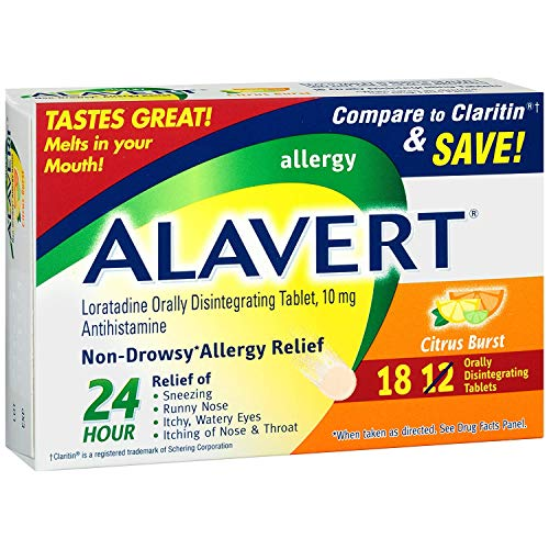 Alavert 24 Hour Orally Disintegrating Tablets Citrus Burst 18 - Tablets Disintegrating Orally Alavert