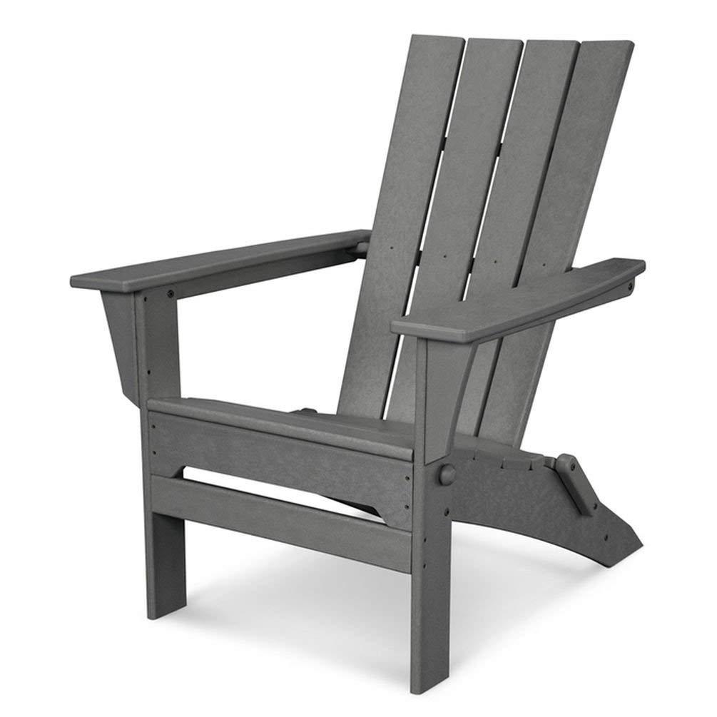 Polywood QNA110GY Adirondack Chair, Slate Grey