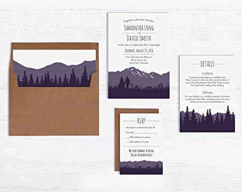 Rustic Mountain Wedding Invitations by Wild Blue Dream & Wild Blue Weddings