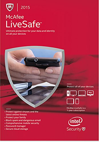 McAfee 2015 LiveSafe 1 Yr, Unlimited Device [Online Code] ()
