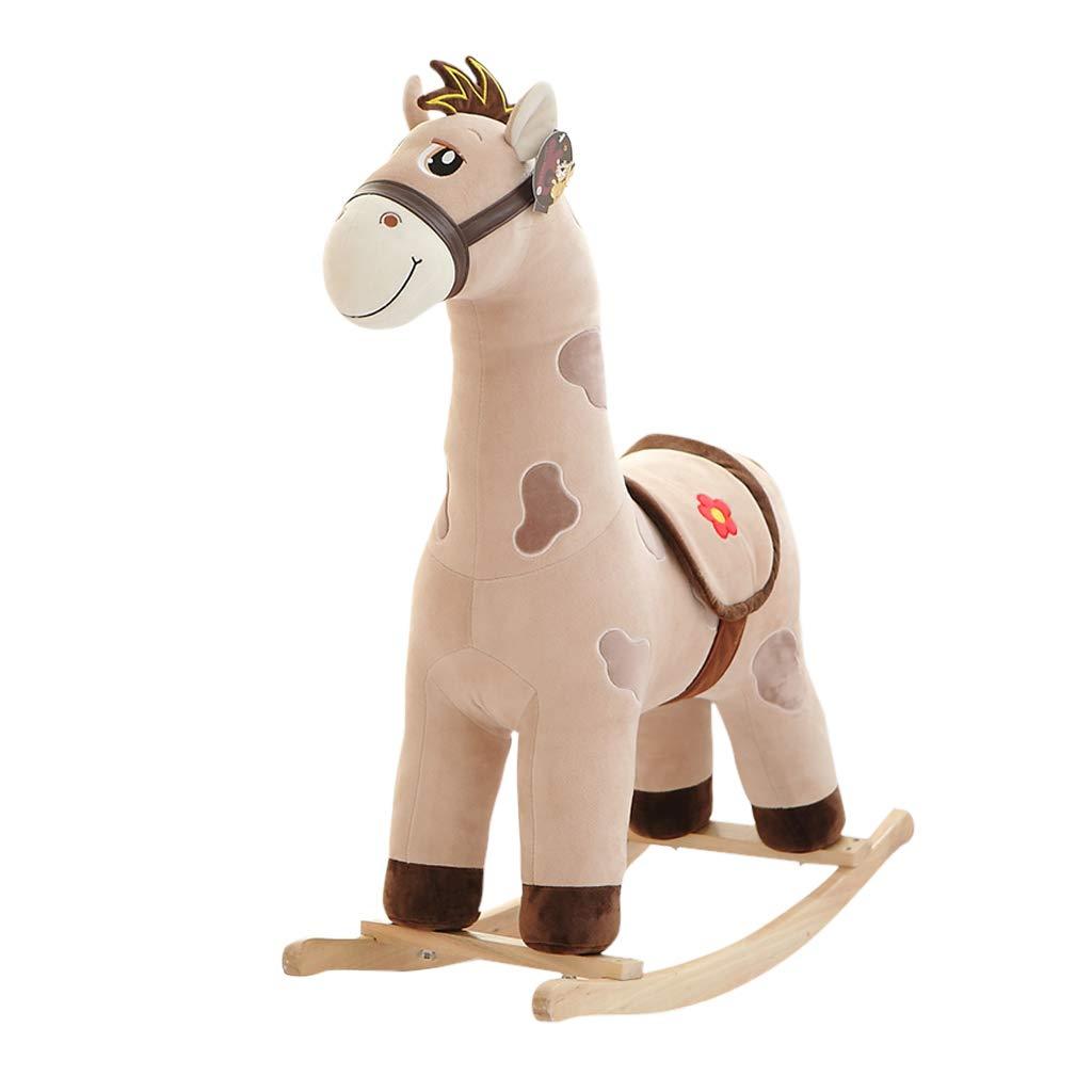 HUYP ロッキングホース かわいい男の子 女の子 子供の日ギフト ロッキングチェア ファッション 子供用おもちゃ グレー  グレー B07L2Z1Q9F
