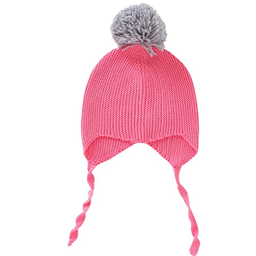 E.mirreh Girl Infant Baby Toddler Winter Knitted Beanie Hat Cotton 3colors Pink M