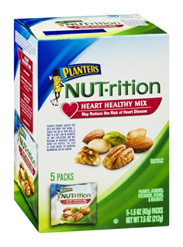Planters NUT-rition Heart Healthy Mix 7.5 OZ (Pack of 12) by Planters