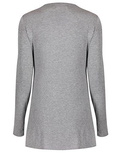 The Essential One - Femme Maternité T-Shirt Top d'allaitement - Gris - EOM196