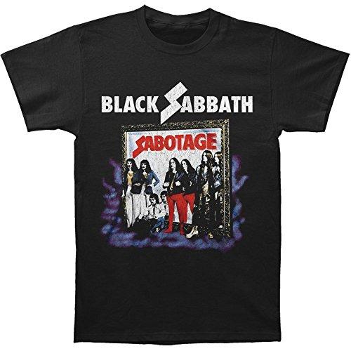 Black Sabbath Men's Sabotage Vintage T-shirt Black