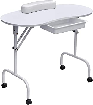 Mesa de manicura portátil Escritorio profesional para uñas ...
