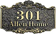 ITODA Personalized Address House Plaque Sign, Custom Cast Street Name Letter Sign Door Room Wall Mounted Acryl
