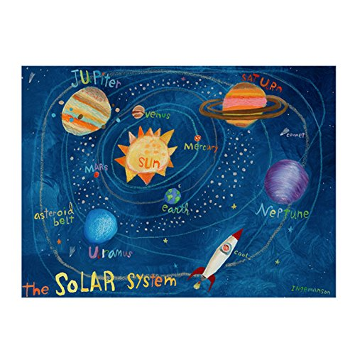 Oopsy Daisy The Solar System Stretched Art, 24 x 18'' by Oopsy Daisy