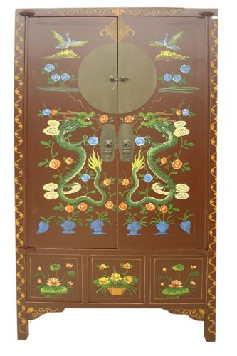 Chinese Antique Reproduction Cabinet Armoire YS266 ()