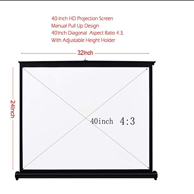 Pantalla portátil de 40 pulgadas, 4: 3 y pantalla de proyección ...