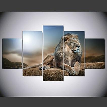 HD Animales impreso Grupo León Pintura en tela, decoración para el hogar cuadros de pared