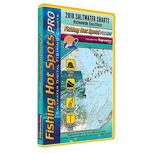 Fishing Hot Spots Pro Sw - 2018 Digital Map & Fishing Chip F/Raymarine Units - Salt ()