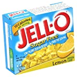 Jell-O Sugar-Free Gelatin Dessert, Low Calorie, Lemon, 0.3 Oz Boxes (Pack of 12)