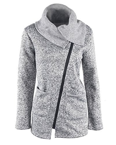 womens cowl neck jacket - 4