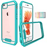 "iPhone 6 Case, TOTU® Ultra Slim [Crystal Clear] Panel Case with Rubber Bumper, Premium Hybrid [Shock Protection] Lightweight Protective Cover For iPhone6 (4.7"" screen) - Light Blue/Sky Blue"