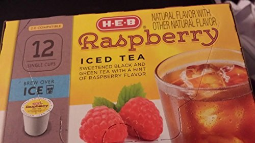 heb-raspberry-iced-tea-12-single-cups-compatible-with-keurig-k-cup-brewers