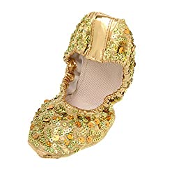 Women Professional Soft Sequins Ballet Dance Shoes