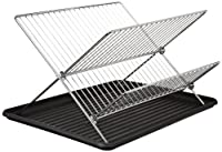 ExcelSteel Chrome Folding Dish Rack