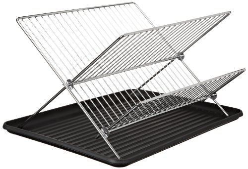 "Cook Pro 14"" Chrome Folding Dish Rack Silver HWCP309"