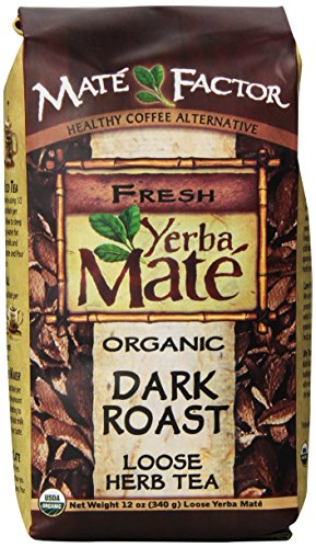 The Mate Factor Yerba Mate Energizing Mate & Grain Beverage, Dark Roast , 12 Ounce