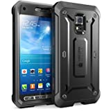 Galaxy S5 Active Case, SUPCASE Unicorn Beetle PRO Series Full-body Hybrid Case with Screen Protector(SM-G870A Water and Shock Resistant Version Smartphone), Black/Black Dual Layer + Impact Resistant