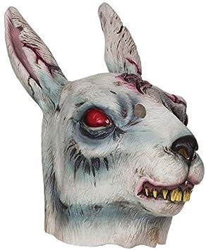 Bristol Novelty bm478 Zombie Máscara de Conejo, un tamaño