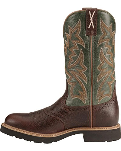 Twisted X Men's Pullon Work Boot Round Toe Cognac 9.5 D(M) US by Twisted X (Image #2)