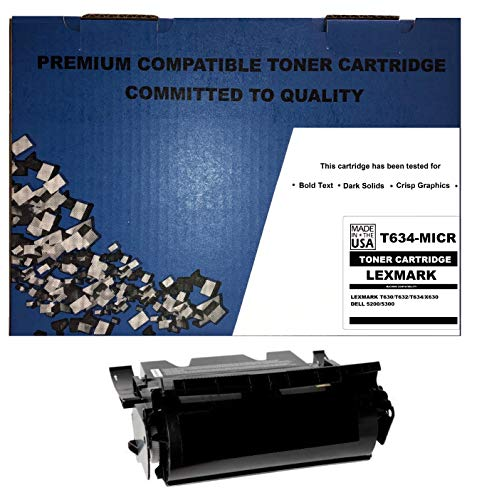 ALL CITY USA REMANUFACTURED Toner Cartridge Replacement for LEXMARK T630/T632/T634/X630 (Black/MICR) Extra HIGH -