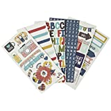 My Minds Eye HC1024 6 Sheet Happy Camper Alpha/Word Stickers, Multicolor