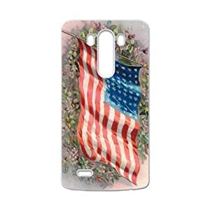 American Flag Flapping In The Wind On The Flower Group LG G3 Case Cover Shell(Laser Technology) by icecream design