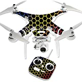 MightySkins Protective Vinyl Skin Decal for DJI Phantom 3 Standard Quadcopter Drone wrap cover sticker skins Primary Honeycomb
