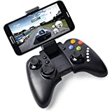 NIUTOP iPega PG-9021 Wiederaufladbare Multimedia Bluetooth Regler mit Teleskop-Ständer für iPhone 4 4S 5 5C 5G iPad mini 2 3 4 Samsung Galaxy S3 i9300 Galaxy S4 i9500 i9505 N7100 N8000 NOTE 2 HTC Motorala Huawei Android iOS Smart Phone Tablet (PG-9021 schwarz)