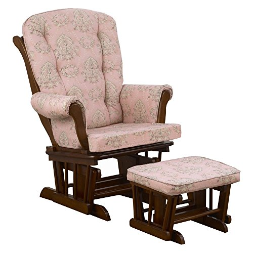 Cotton Tale Designs Nightingale Floral Glider with Ottoman by Cotton Tale Designs