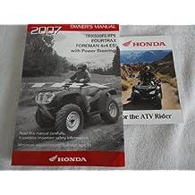 2007 Honda TRX500 Owners Manual TRX 500 FE / FPE Fourtrax Foreman 4x4 w/ P.S.