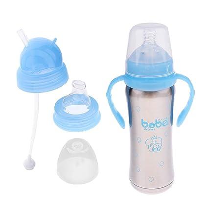IPOTCH Botella de Acero Inoxidable para Bebés Taza Juguetes ...