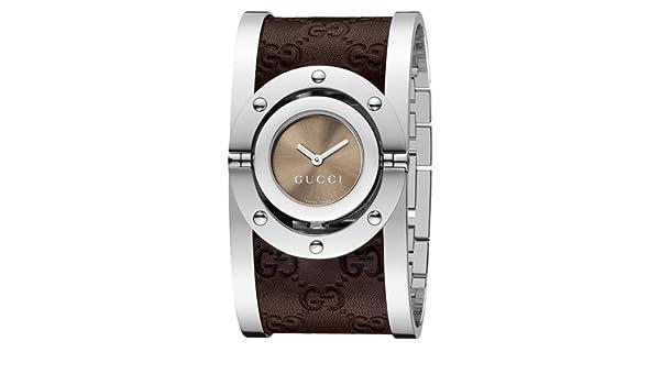 4d5ae1187c2 Gucci Twirl Medium Brown Guccissima Leather Bangle Women s Watch(Model  YA112433)  Gucci  Amazon.ca  Watches