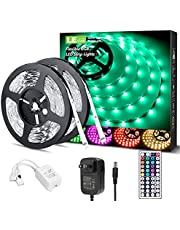 Lepro LED Light Strips 32.8ft, Outdoor RGB Color Changing Light Strip Waterproof with Remote, LED Strip Lights for Bedroom, Kitchen, Home and TV, Bright 5050 LED, Strong 3M Adhesive (16.4ft*2)