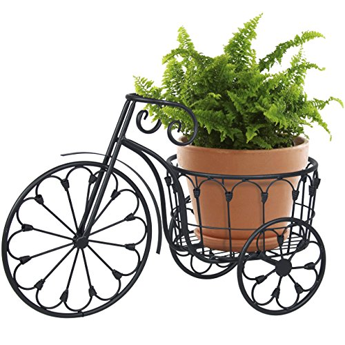 Planter Lawn (Best Choice Products Patio Mini Garden Bicycle Planter Home Decor Iron Plant Stand - Black)