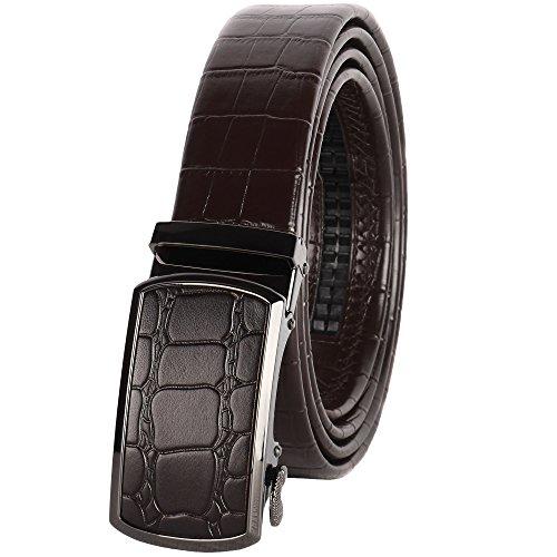 Men's Leather Ratchet Belt, one size 24