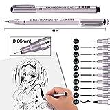 Precision Micro-Line Pens, 10 Size Black