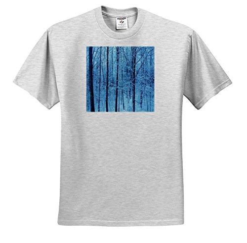 TDSwhite – Winter Seasonal Nature Photos - Winter Snowy Morning Blue Hour - T-Shirts - Youth Birch-Gray-T-Shirt Small(6-8) (ts_284965_28) ()