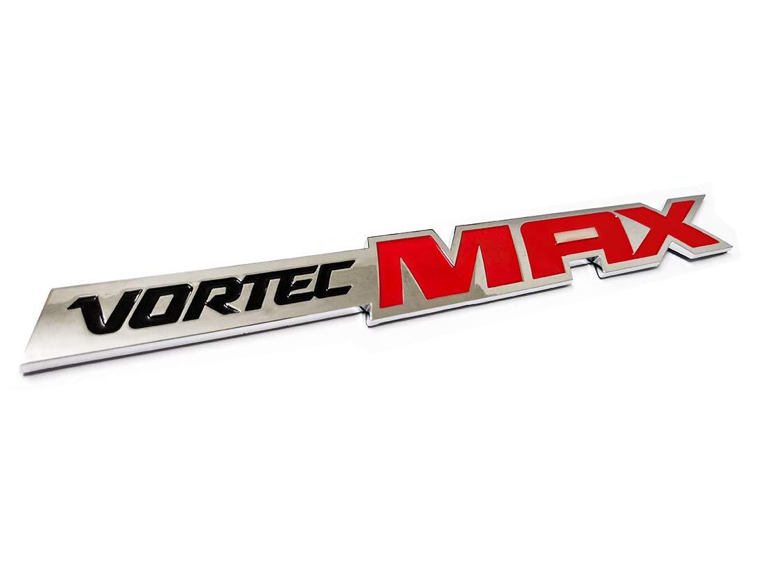 2pcs Vortec Max Door Emblem Logo Badge Plate Band Decal Replacement for Chevrolet 06-09 Silverado Sierra SS 6.0 Gm Truck 6.0 Liter Emzscar Chrome Red