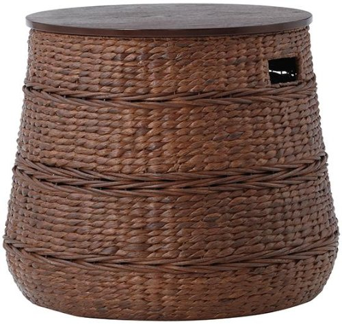 Kerala Storage End Table, 18.9''Hx22.3''W, BROWN by Home Decorators Collection
