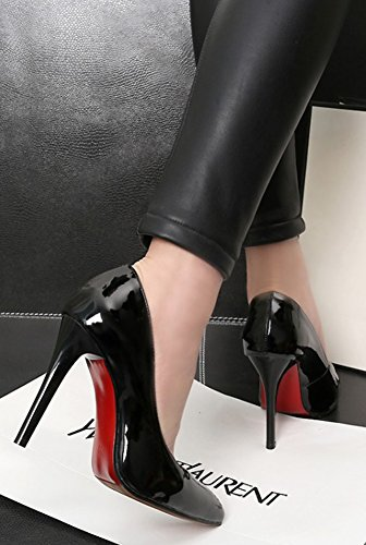 Slip Stiletto Pumps Dressy Cut Black Aisun On Womens Low Heels Sexy High Shoes Toe Burnished Pointed 88PAq0xO