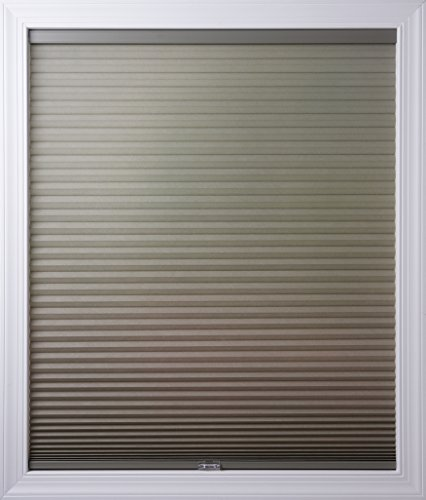 New Age Blinds Light Filtering Inside Frame Mount Cordless Cellular Shade, 25 x 72-Inch, Antique Pewter