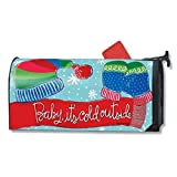 Magnet Works Baby It's Cold Outside Scarf Hat & Mittens Magnetic Mailbox Wrap