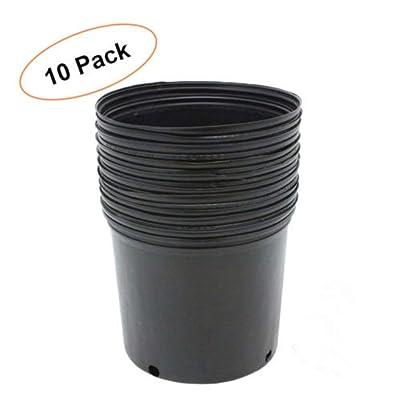 3 GALLON NURSERY POTS Outdoor Vegetable Flower Plant Plastic Pot Garden 10 PACK: Garden & Outdoor